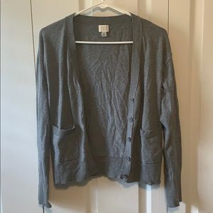 XS Gray Button Up Cardigan